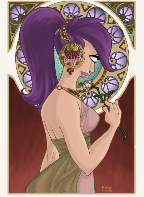 Leela ala Mucha take 2 by persephohi