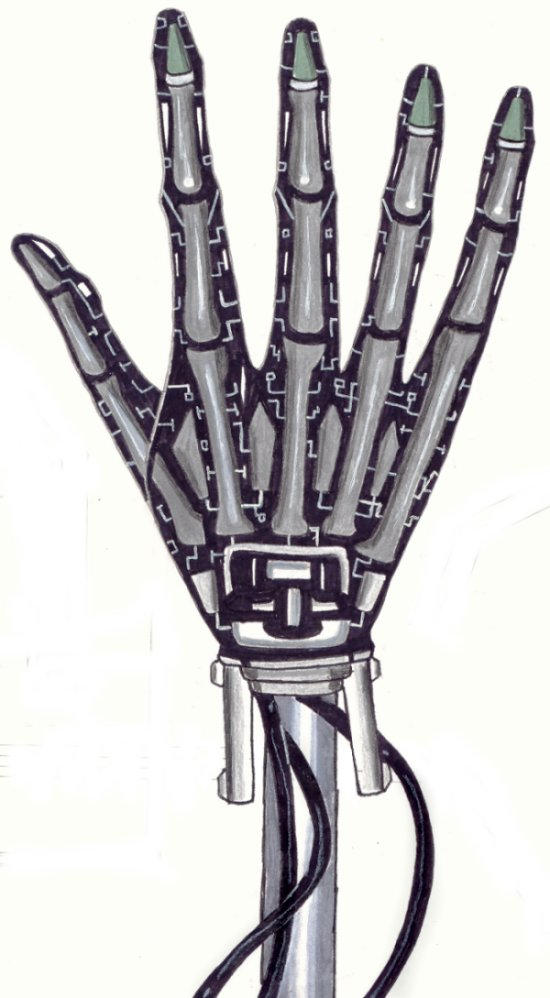Mechanical hand art - photo#12