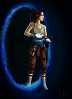 Portal: Chell by BlackCyanide-fr