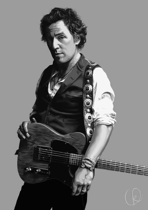 Bruce Springsteen - The Boss by BlackCyanide-fr
