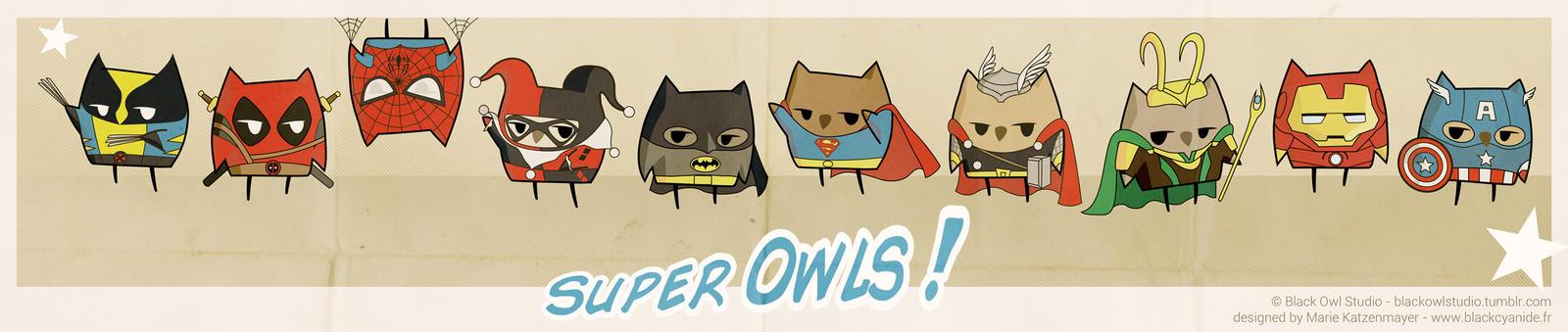 Super Owls ! by BlackCyanide-fr