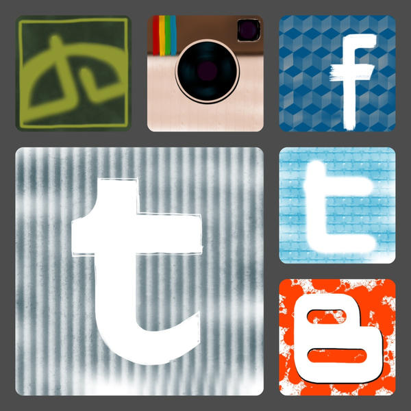 Logo/Icons Socia Media Collage by MJStarchilde