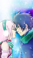 SasuSaku - Sweet Winter v3 by asha3