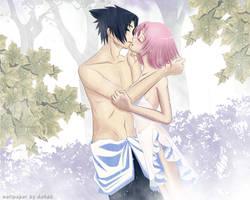 SasuSaku: Iridescent wallp by asha3