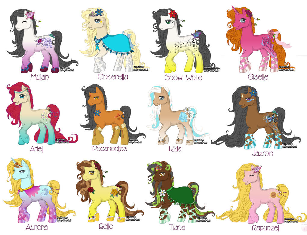 Disney pony pack by Morgwaine