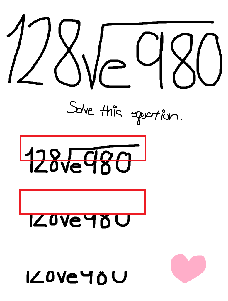 how to write i love you in math