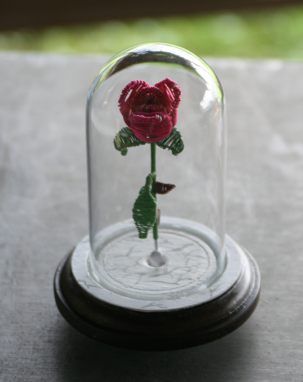 beauty and the beast flower in wire head on by yinyangbeetl on