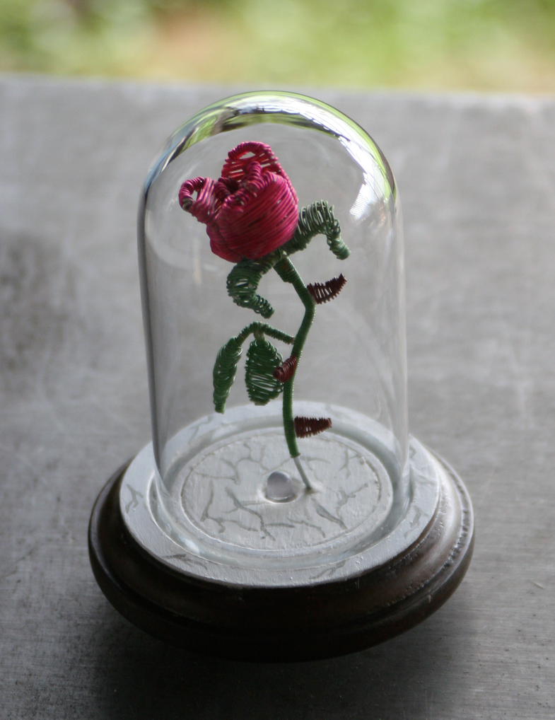 beauty and the beast flower in wire back view by yinyangbeetl on