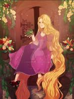 Rapunzel Illustration by hxnabii