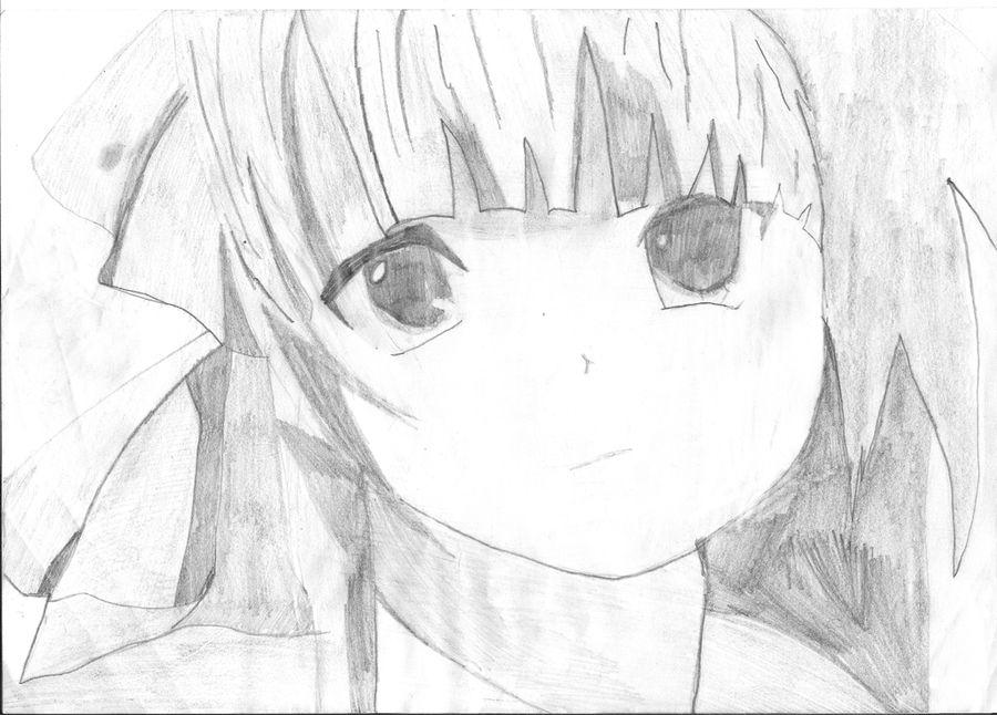 Angel beats drawing