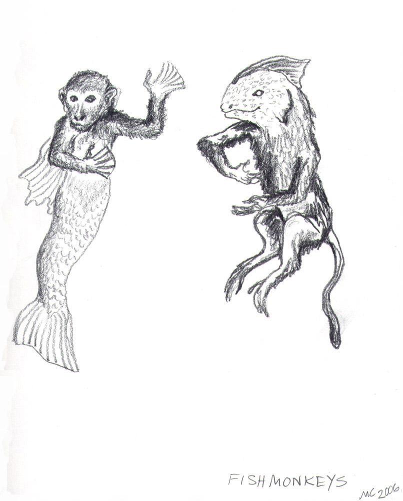 fish monkeys by wakeflames on deviantart