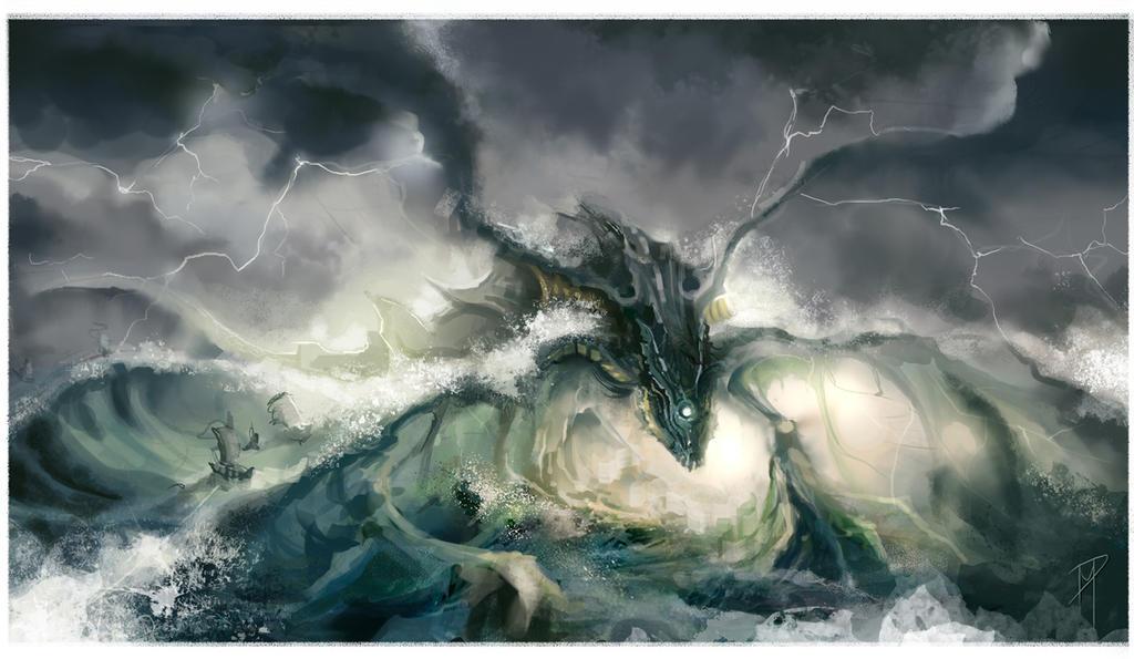 Sea Dragon Ushering the Fleet by CityState on DeviantArt