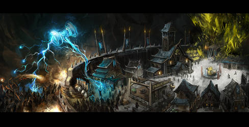 Concept of Guild Mine Town by CityState