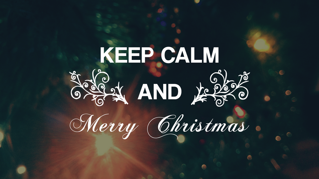 Keep Calm and Merry Christmas by xxRapeKxx