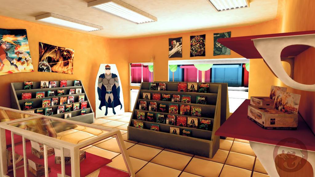 comic shop by Capitan-Mark-Antony