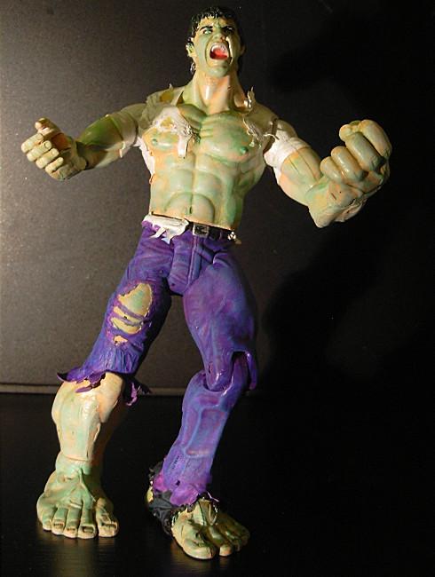 Mid-Transformation Hulk by CreatureSH on DeviantArt