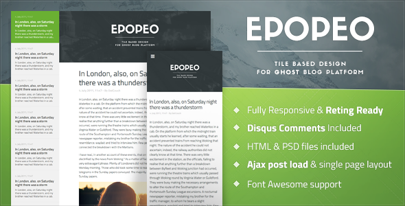 Epopeo - Tile Based Design for Ghost Platform by datcouch