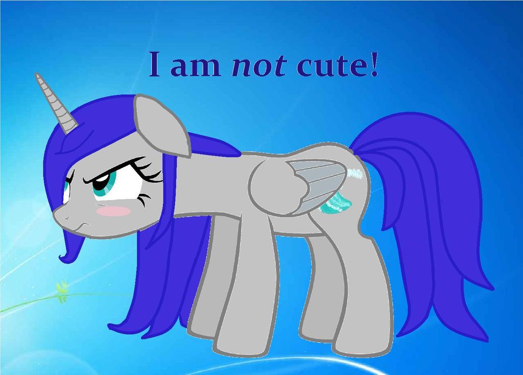 I am NOT cute! by RandomeLight