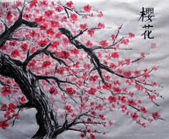 Cherry blossom by MindOfLead