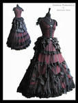 3 piece 2, dress, bustle, blouse, Somnia Romantica