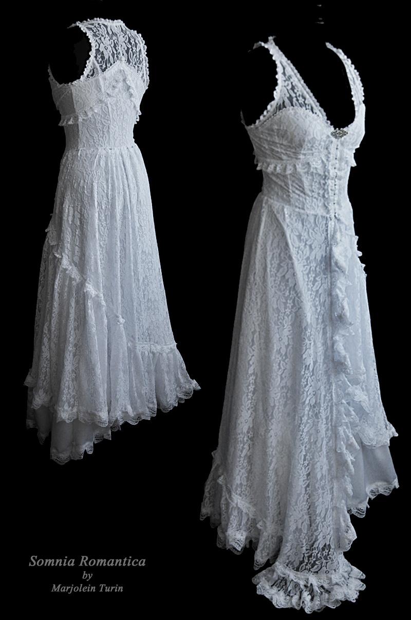 Dress white lace Somnia Romantica by M Turin by SomniaRomantica