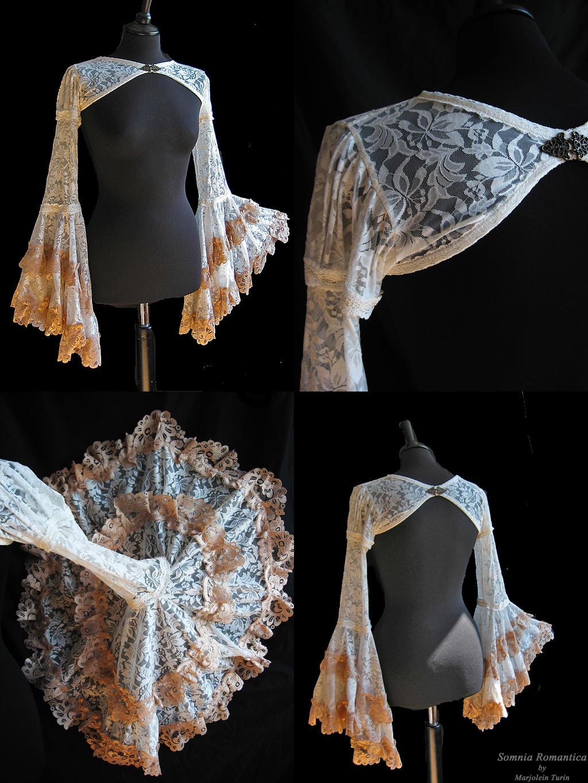 Bolero flared sleeves details, by Somnia Romantica by SomniaRomantica