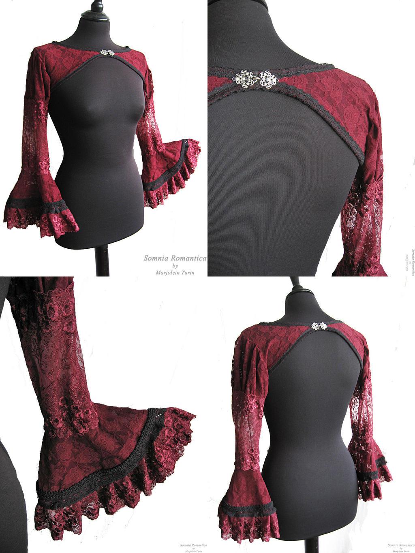 Bolero burgundy details, Somnia Romantica by SomniaRomantica
