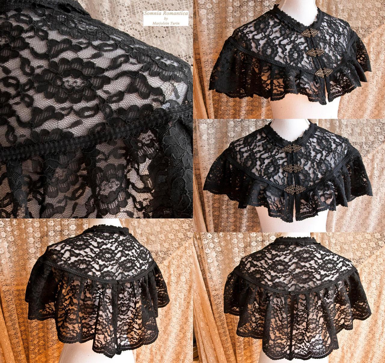 Capelet black lace, somnia romantica by M Turin by SomniaRomantica