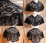 Capelet black lace, somnia romantica by M Turin