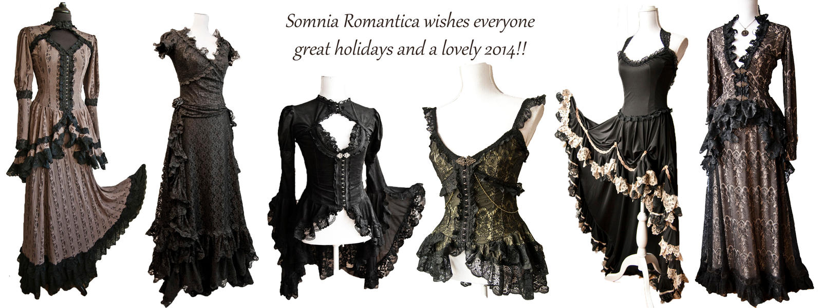 Happy Holidays! (with some pieces from 2013 :-) ) by SomniaRomantica