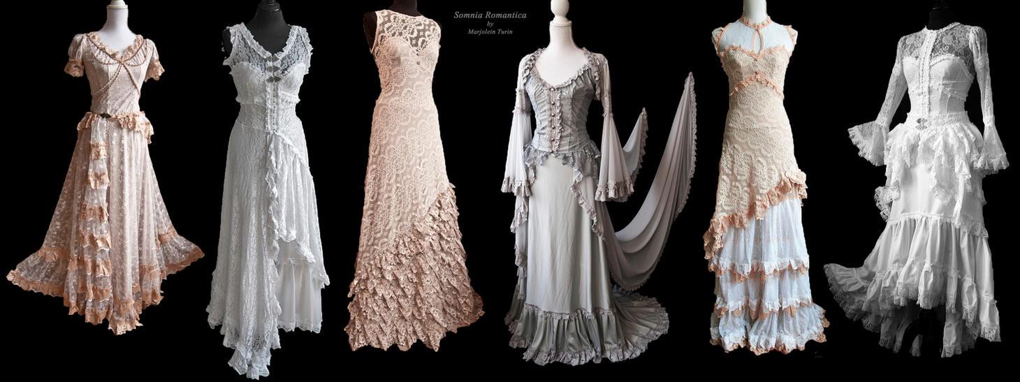 light dresses, Somnia Romantica by Marjolein Turin by SomniaRomantica