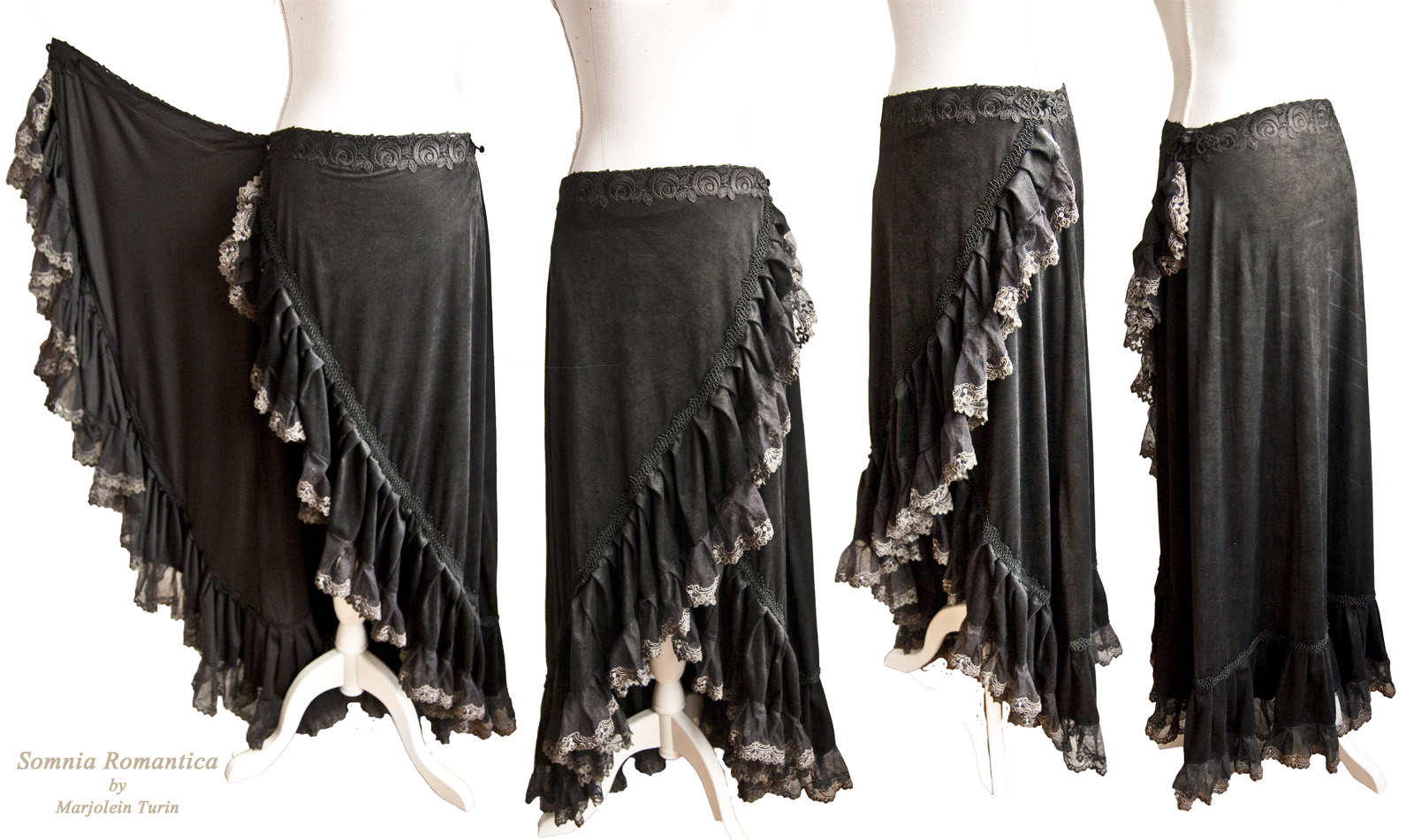 Romantic wrap skirt, Somnia Romantica by M Turin by SomniaRomantica