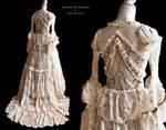 Bridal dress, back view, by Somnia Romantica