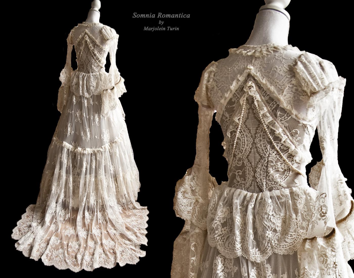 Bridal dress, back view, by Somnia Romantica by SomniaRomantica