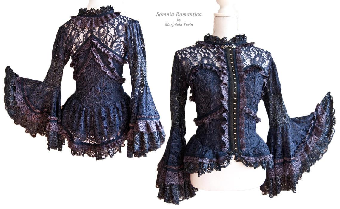 Blouse indigo lace, Somnia Romantica by M. Turin by SomniaRomantica