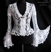 Blouse Papillon white,Somnia Romantica by M. Turin by SomniaRomantica