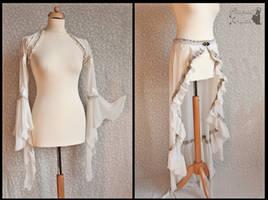 ghostly shrug and skirt, by Somnia Romantica by SomniaRomantica