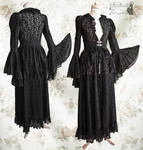 black wrap dress lace, Somnia Romantica by M.Turin
