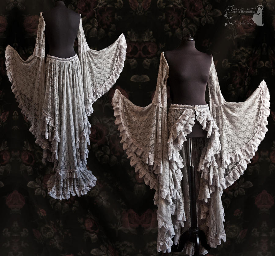 ghostly angelic skirt and sleeves,Somnia Romantica by SomniaRomantica