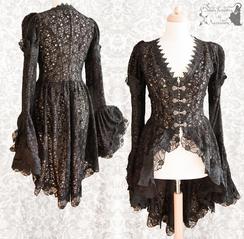 Blouse black lace, Somnia Romantica by M. Turin by SomniaRomantica