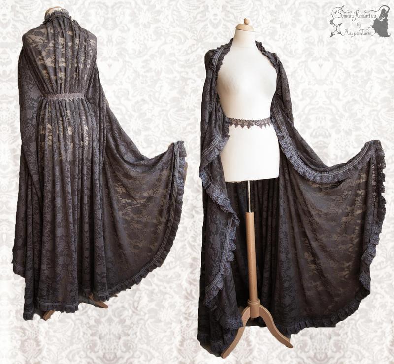 Cloak dark grey, Somnia Romantica by M. Turin by SomniaRomantica