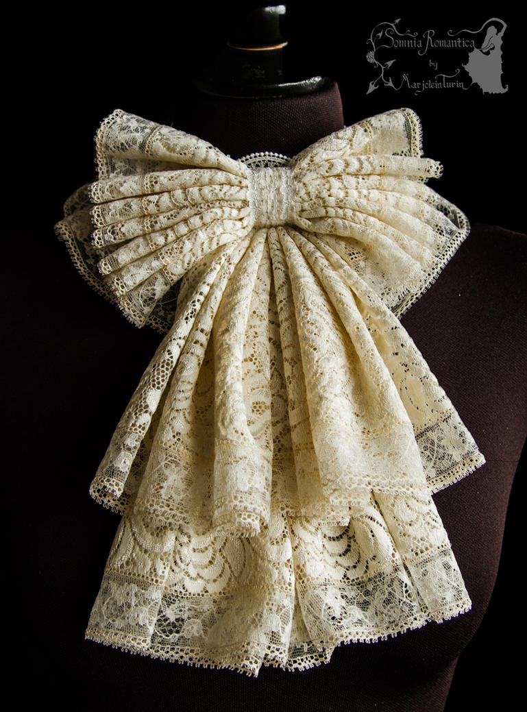 Jabot ivory lace, Somnia Romantica by M. Turin by SomniaRomantica