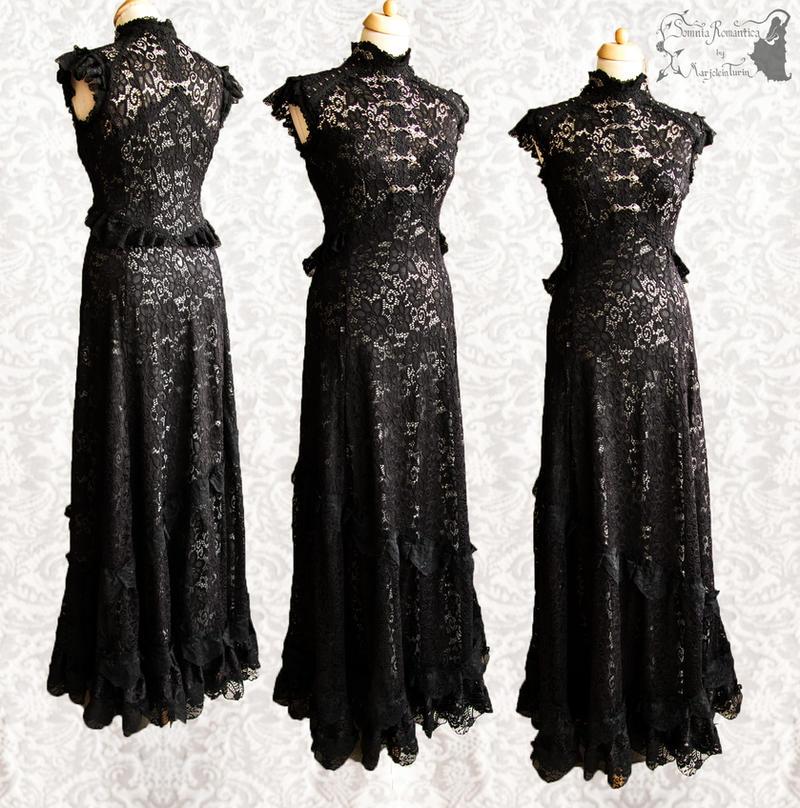 Dress art nouveau dark gothic vampire by SomniaRomantica