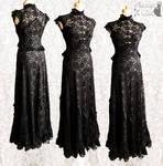 Dress art nouveau dark gothic vampire
