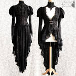 Lace overcoat Issoire, Victorian, goth, Steampunk