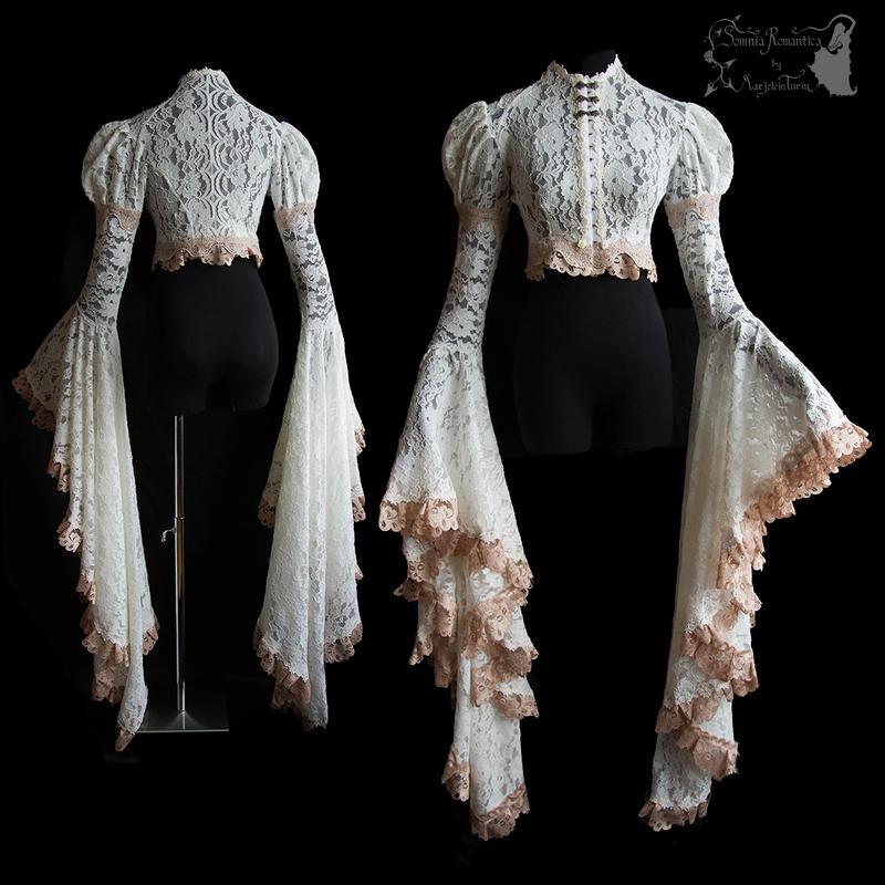 Angelic ghostly dreamy Art Nouveau shrug by SomniaRomantica