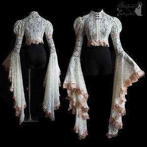 Angelic ghostly dreamy Art Nouveau shrug