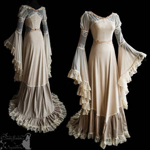 art nouveau inspired gown ghostly dreamy