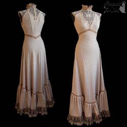 Art Nouveau gown, romantic, ghostly, dreamy
