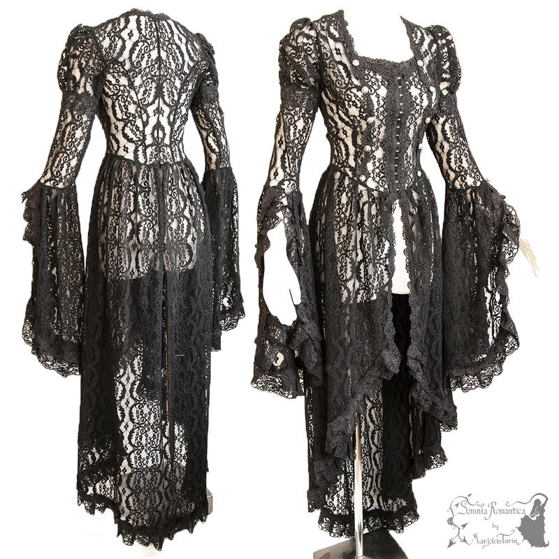 black lace waistcoat victorian steampunk romantic by SomniaRomantica